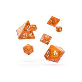 Zestaw kości Oakie Doakie Dice RPG Set przezroczyste - pomarańczowe