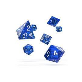 Zestaw kości Oakie Doakie Dice RPG Set plamiste - niebieskie