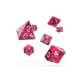 Zestaw kości Oakie Doakie Dice RPG Set plamiste - różowe