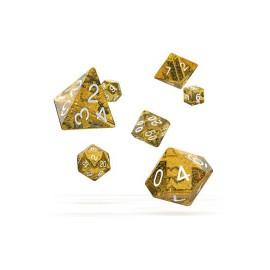 Zestaw kości Oakie Doakie Dice RPG Set plamiste - pomarańczowe