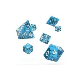 Zestaw kości Oakie Doakie Dice RPG Set plamiste - jasnoniebieskie