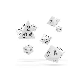 Zestaw kości Oakie Doakie Dice RPG Set - białe