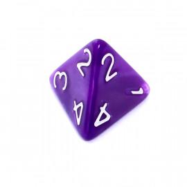 Kość Rebel K10 - perłowa fioletowa