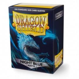 Koszulki Dragon Shield Matowe Nocny Niebieski 100 szt.