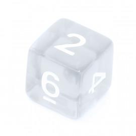 Kość Rebel K6 -kryształowa przezroczysta