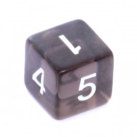 Kość Rebel K6 - kryształowa czarna