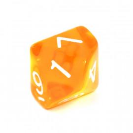 Kość Rebel K10 - kryształowa pomarańczowa