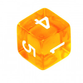 Kość Rebel K6 - kryształowa pomarańczowa