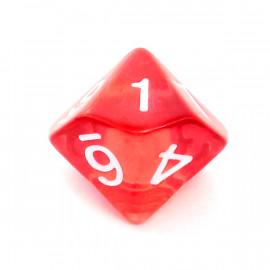 Kość Rebel K10 - kryształowa czerwona