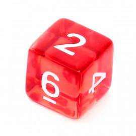 Kość Rebel K6 - kryształowa czerwona