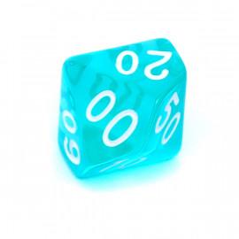Kość Rebel K100 - kryształowa błękitna