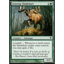 Grazing Gladehart FOIL (Zendikar) [EX]