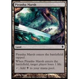 Piranha Marsh FOIL (Zendikar) [EX]