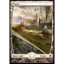 Plains 233 (Zendikar) [FULLART] [EX]