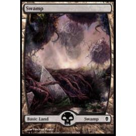 Swamp 241 (Zendikar) [FULLART] [EX]