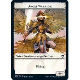 Angel Warrior 4/4 Token 001 - ZNR