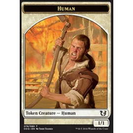 Human Token 1/1 (DD: Blessed vs. Cursed)