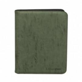 UP - Zippered Suede 9-Pocket Premium PRO-Binder - Emerald