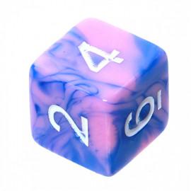 Kość Rebel K6 - niebiesko-różowa