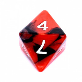 Kość Rebel K8 - czerwono-czarna