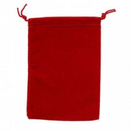 Duża sakiewka Chessex Large Suedecloth Dice Bags -  czerwona