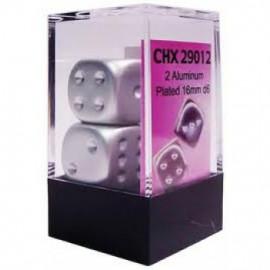 Zestaw kości Chessex - Aluminum-Plated Metallic 16 mm