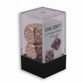 Zestaw kości Chessex - Copper-Plated Metallic 16 mm