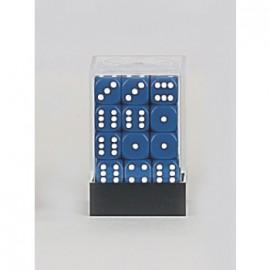 Zestaw 36 kostek K6 (12 mm) - niebieskie