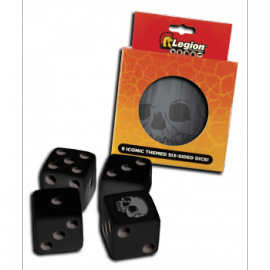 Legion - D6 Dice Tin - Iconic Skull (9x K6 16mm)